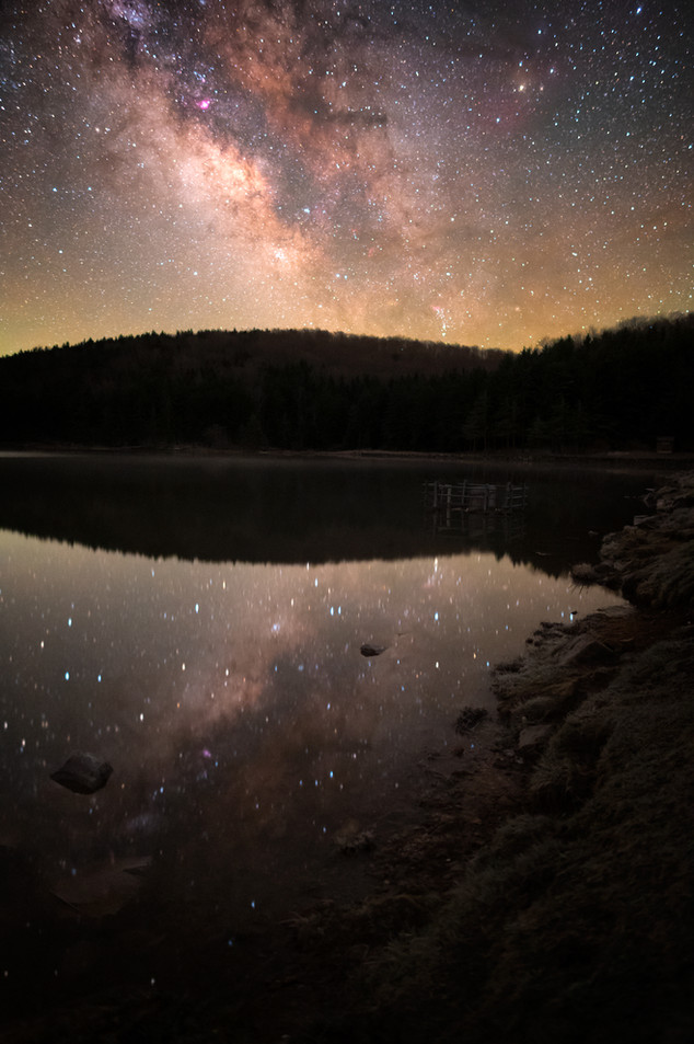 Milky Way from Spruce Knob Lake