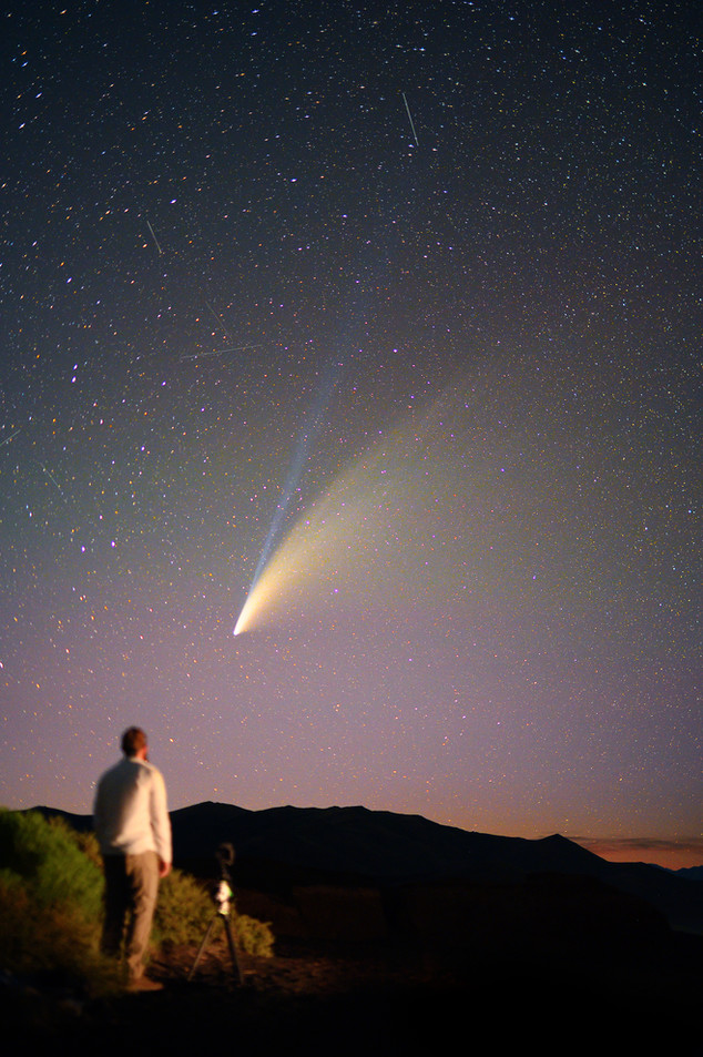 Watching Comet NEOWISE from Craters of the Moon National Monument