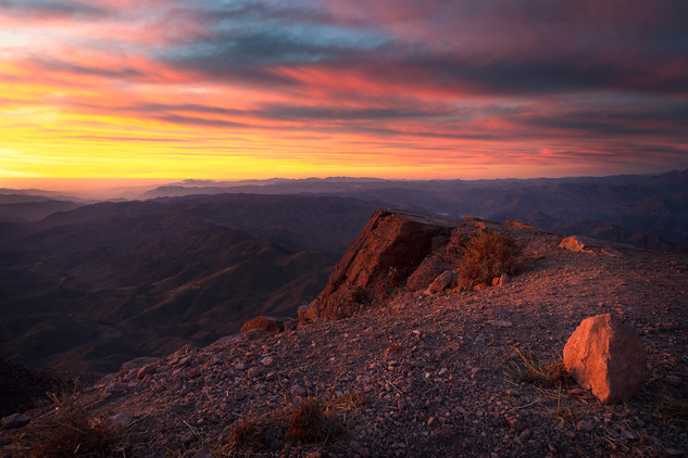 Sunset from Cerro Tololo Observatory in Chile