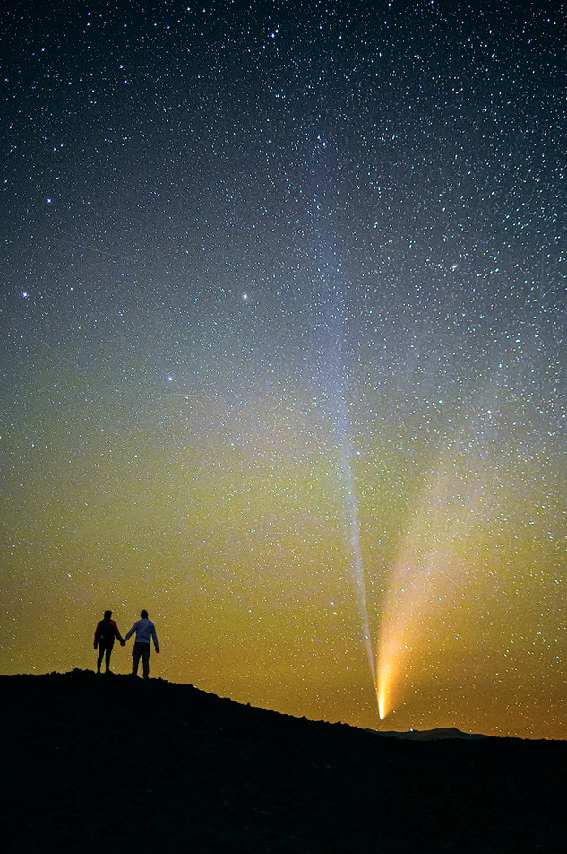 Comet NEOWISE portrait at Craters of the Moon National Monument