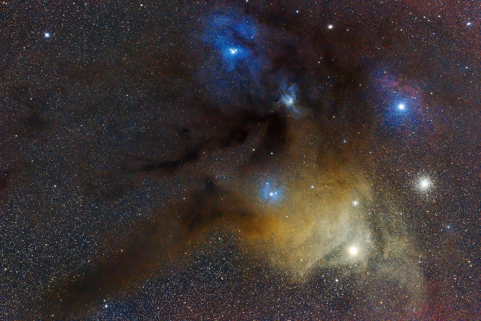 Rho Ophiuchi Nebula region