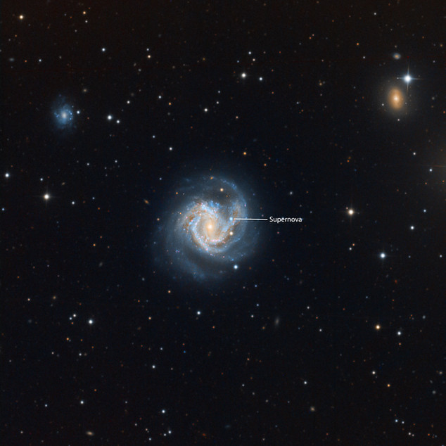 Messier 61 and Supernova