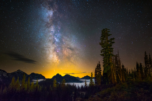 Milky Way from Paradise in Mount Rainier