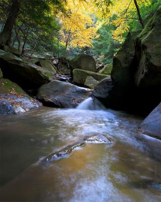 Pennsylvania creek and fall colors