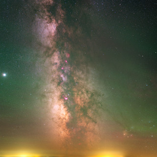Core of our Milky Way Galaxy and Jupiter