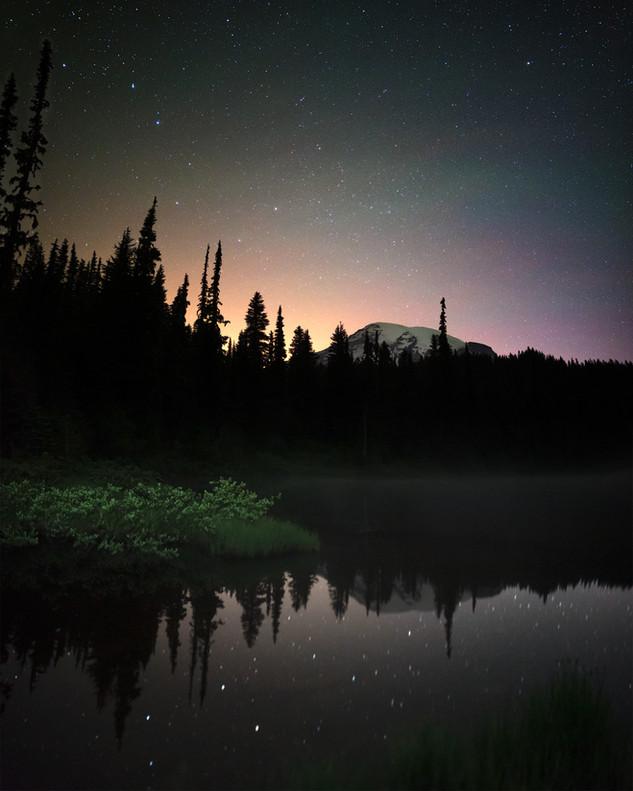 Big Dipper over Reflection Lake at Mount Rainier