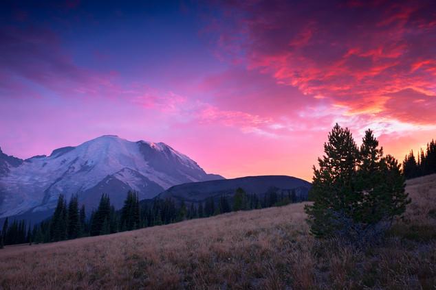 Sunset from Mount Rainier