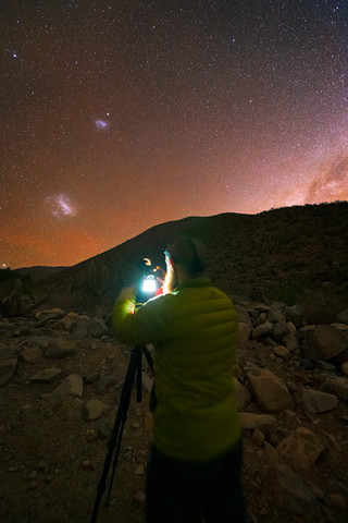 Shooting the Magellanic Clouds