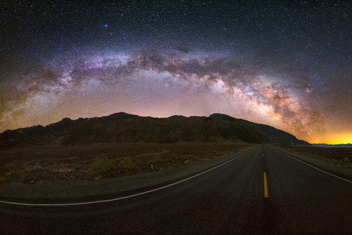 Death Valley Milky Way Panorama from Badwater Basin