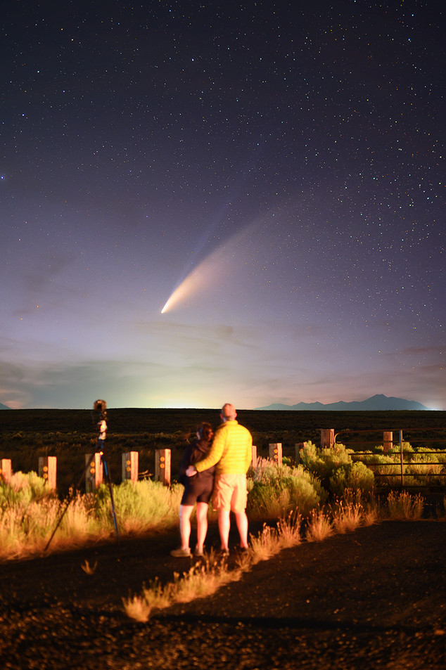 Comet NEOWISE from Arco, Idaho