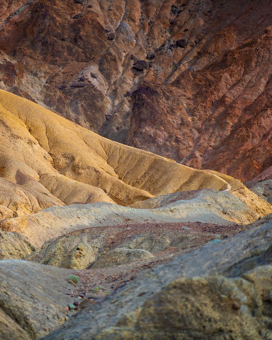 Sedimentary rocks near Artist's Pallet