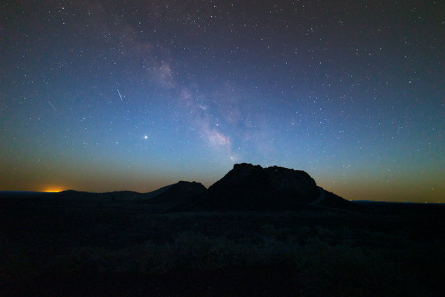 Milky Way over the Spatter Cones