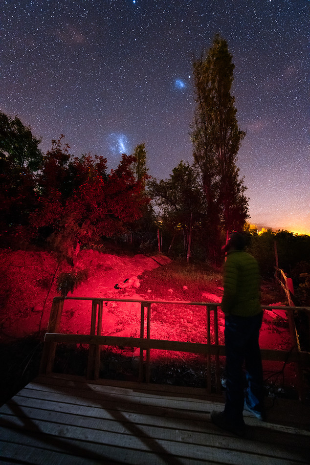 Magellanic Clouds from Chile