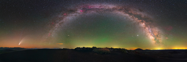 Comet NEOWISE and Milky Way
