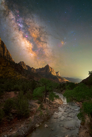 Zion Milky Way and The Watchman