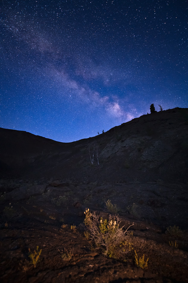 Milky Way before dark at Craters of the Moon National Monument