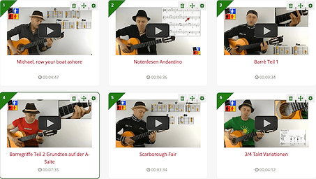 Gitarre lernen online Masterplan 2 Lekti