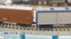 カプラー交換、ワム、スユ、KATO 車間短縮ナックルカプラー(28-187)を2軸貨車に装着、接触