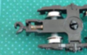 車間短縮, 自動連結, 突き当て連結, 車間短縮ナックルカプラー(28-187), カプラー交換, KATO, ボギー台車, GREENMAX, GREEN MAX, グリーンマックス, マニ44