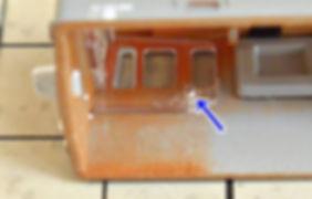 KATO, DF50, 7009, 7009-1, 7009-2, 運転台, 分解4, 窓
