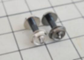 KATO 中空軸車輪(黒)11-606と銀色車輪