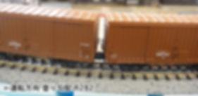 カプラー交換、ワム、KATO 車間短縮ナックルカプラー(28-187)を2軸貨車に装着、接触