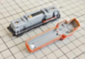 ライトユニットASSY, 7013G, KATO, DD16, 7013, DD16 304 ラッセル式除雪車セット, 10-1127, カプラー交換, 入線, レビュー, 入線準備