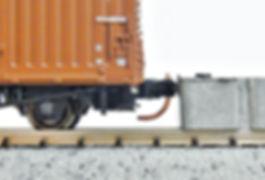 カプラー交換、KATO ROUNDHOUSE車間短縮ナックルカプラー(28-187)を2軸貨車に装着