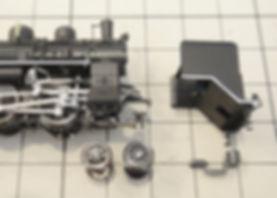 KATO 28-194スポーク先輪、D51(2016-3)、C56(2020-1)、9600(2014,2015)分解、C57 4次形(2023)