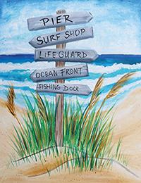 Beach, this way!