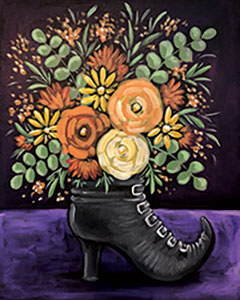 Witchs boot bouquet