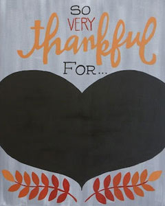 Thankful for (chalkboard)