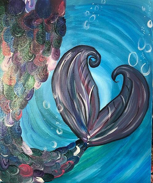 Mermaid Tail w/Glitter