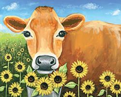 Sunflower Jersey Cow