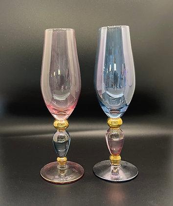 Art Deco two colour flutes Price per glass
