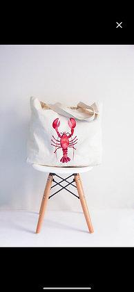Lobster tote beach bag