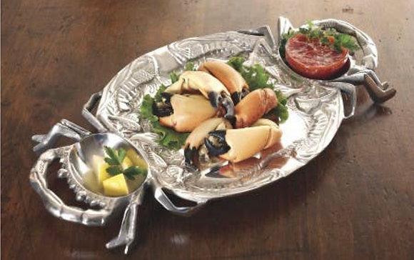 Lobster and crab aluminium serving tray