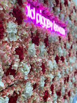 Tea Room Flower Wall
