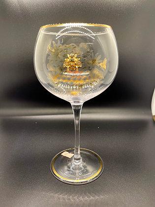 Diamanté bee motif gin goblet