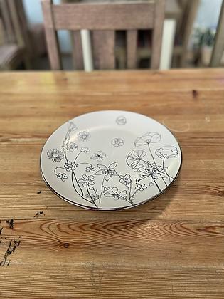 Wild flower dinner plate