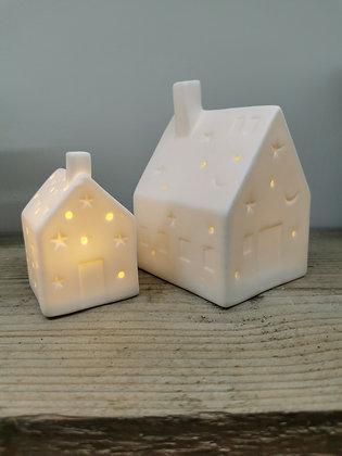 light up christmas house LED shabby chic