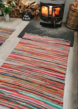 Rectangular rag rug