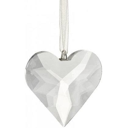Hanging cut glass heart