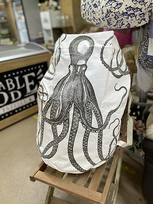 Large 100% heavy canvas kit bag•beach bag•laundry bag With octopus print