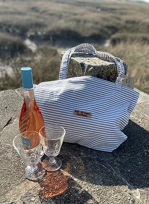 Bill Brown striped beach bag