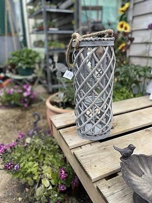 40 cm grey woven lante