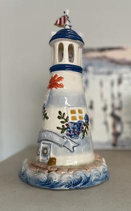 Coral cove tea light lighthouse