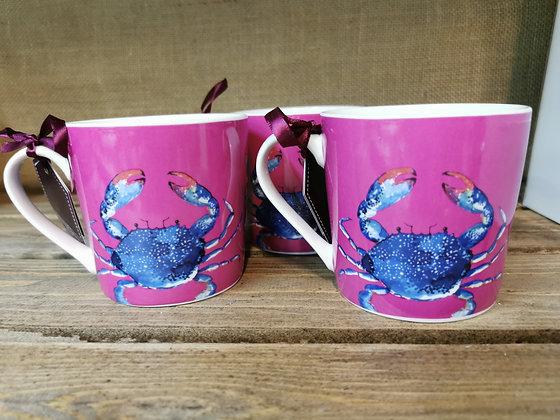 crab lobster mug coastal themed