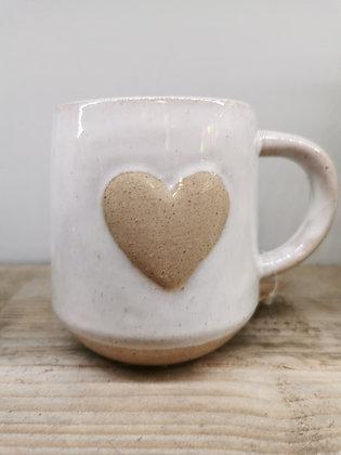 Chunky heart mug