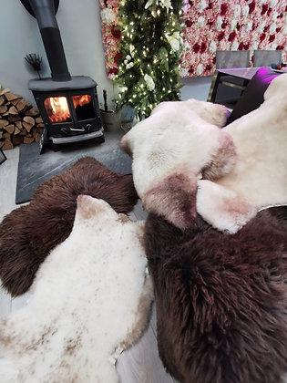 sheepskin rug real